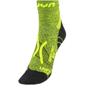 UYN Run Super Fast Socks Men Yellow Fluo Melange/Black